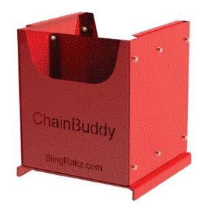 Red Lite storage bin with divider