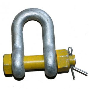 Yellow Pin D Shackle G80 – Safety Pin