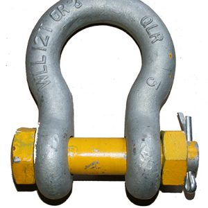 Yellow Pin Bow Shackle G80 – Safety Pin