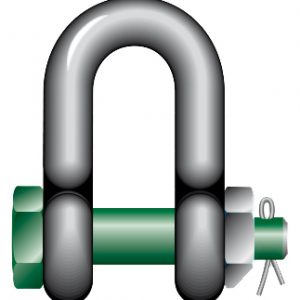 D Type Shackle Safety Green Pin