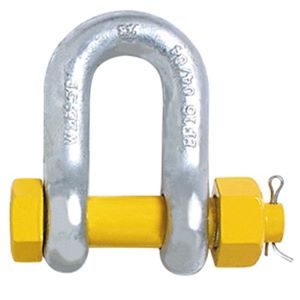 Safety D Shackle Gr S – Yellow Pin